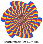 abstract spiral design with 6... | Shutterstock .eps vector #251674486