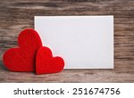Greeting Card With A Red Heart...