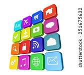 application concept on white... | Shutterstock . vector #251675632