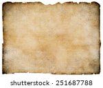 old blank parchment treasure... | Shutterstock . vector #251687788