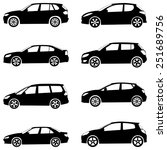 cars silhouette set...   Shutterstock . vector #251689756