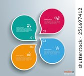 infographic with drop shapes on ... | Shutterstock .eps vector #251697412