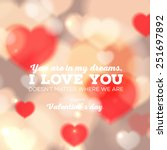 happy valentine's day card with ... | Shutterstock .eps vector #251697892