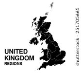 United Kingdom  Regions Map....