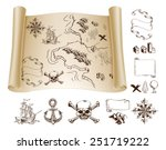 example map and design elements ... | Shutterstock .eps vector #251719222