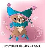 vector funny dressed pocket dog ...   Shutterstock .eps vector #251753395