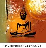 buddha silhouette in lotus... | Shutterstock .eps vector #251753785