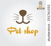 logo for pet shop or animal... | Shutterstock .eps vector #251761552