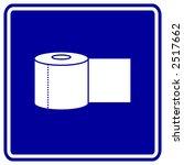bathroom paper roll sign   Shutterstock .eps vector #2517662