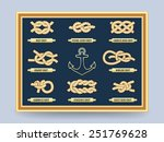 nautical rope knots on the... | Shutterstock .eps vector #251769628