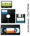 vector images of retro data... | Shutterstock .eps vector #251778568