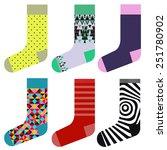 socks design set  colorful... | Shutterstock .eps vector #251780902