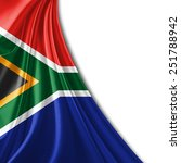 south africa flag and white... | Shutterstock . vector #251788942