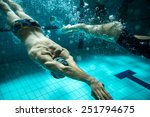 two swimmers at the swimming... | Shutterstock . vector #251794675