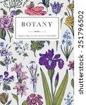 botany. vintage floral card.... | Shutterstock .eps vector #251796502