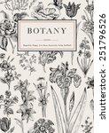 botany. vintage floral card.... | Shutterstock .eps vector #251796526