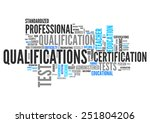 word cloud with qualifications... | Shutterstock . vector #251804206