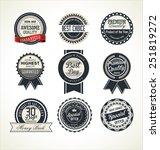 premium quality retro badge... | Shutterstock .eps vector #251819272