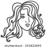 romantic pretty woman | Shutterstock .eps vector #251822692