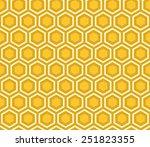 Seamless Yellow Honeycomb...