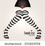 woman legs in black and white... | Shutterstock .eps vector #251823556