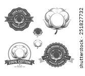cotton icons set. cotton labels ... | Shutterstock .eps vector #251827732
