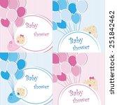 set of baby shower background...   Shutterstock .eps vector #251842462