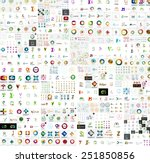 mega collection of abstract... | Shutterstock .eps vector #251850856