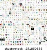 Mega collection of abstract company logo design concepts | Shutterstock vector #251850856