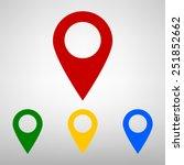 mark icon  pointer. ... | Shutterstock . vector #251852662