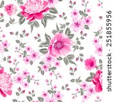 luxurious color peony seamless...   Shutterstock .eps vector #251855956