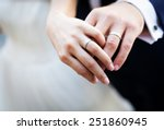 Newly Wed Couple\'s Hands With...