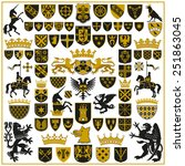 heraldry crests and symbols | Shutterstock .eps vector #251863045