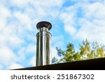 modern chimney on the roof of... | Shutterstock . vector #251867302