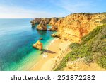 a view of a praia da rocha in... | Shutterstock . vector #251872282