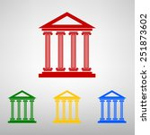 historical building icon  ...   Shutterstock . vector #251873602