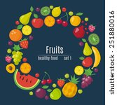 healthy food circle of... | Shutterstock .eps vector #251880016