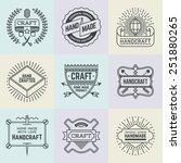 assorted retro design insignias ... | Shutterstock .eps vector #251880265
