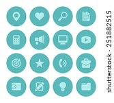 flat icons vector set for web... | Shutterstock .eps vector #251882515