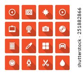 flat icons vector set and long... | Shutterstock .eps vector #251882866