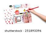kitchen interior. children...   Shutterstock . vector #251893396