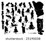 a little boy with paper | Shutterstock .eps vector #25190038