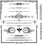 decorative divider  border   ... | Shutterstock .eps vector #251924092