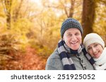 mature winter couple against... | Shutterstock . vector #251925052