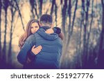 pretty couple outdoor with... | Shutterstock . vector #251927776