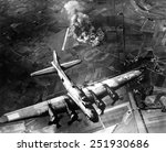 Постер, плакат: B 17 Bomber during the