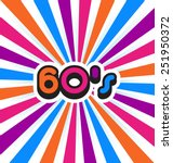 60's party logo background.  | Shutterstock .eps vector #251950372