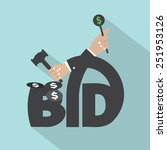 auction or bid typography... | Shutterstock .eps vector #251953126