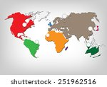 world map infographic.vector