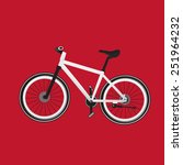 bike red background | Shutterstock .eps vector #251964232
